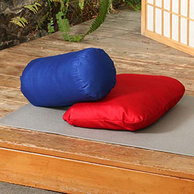 Yoga Meditation Pillow and Bolster - In cotton or buckwheat fill