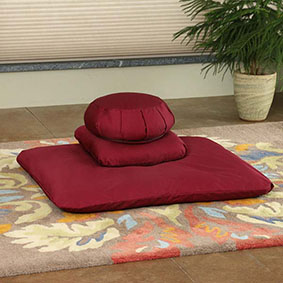 Buckwheat Zafu Zabuton Set Deluxe - Deluxe Sets sold with an extra meditation Cushion for more height