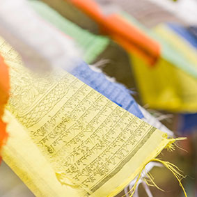Prayer Flags from Tibetan Communities in Nepal and India