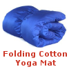 Folding Cotton Yoga Mat