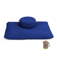 Buckwheat Pillbox Zafu Meditation Cushion Set