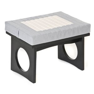 Cloud Meditation Bench, Zen Black with Cushion