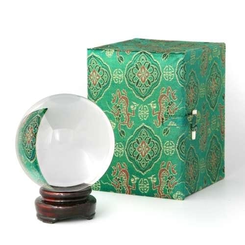 80 mm ( 3 1/8 inches)  Crystal Ball