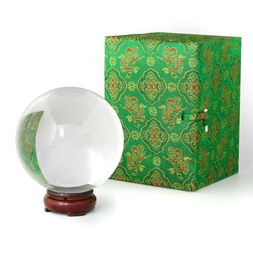 100 mm ( 4 inches) Crystal Ball with Wooden Stand