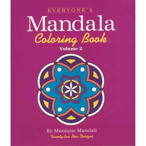 Everyone's Mandala Coloring Book, Volume 2, By Monique Mandali