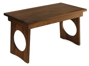 Puja Prayer Table in Black Walnut