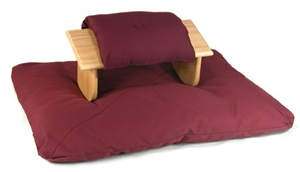 Seiza Kneeling Meditation Bench Set with Cushions
