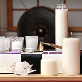 Altar Candles - Unscented Votive and Pillar Candles
