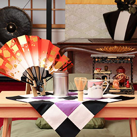 Zen Tea, Oryoki Monastic Eating, Ceremonial fan - All from Japan